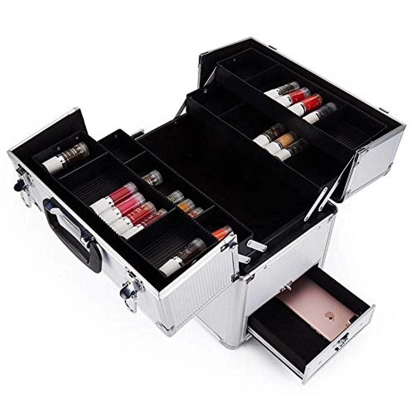 説明する軽食ハッピー特大スペース収納ビューティーボックス 美の構造のためそしてジッパーおよび折る皿が付いている女の子の女性旅行そして毎日の貯蔵のための高容量の携帯用化粧品袋 化粧品化粧台