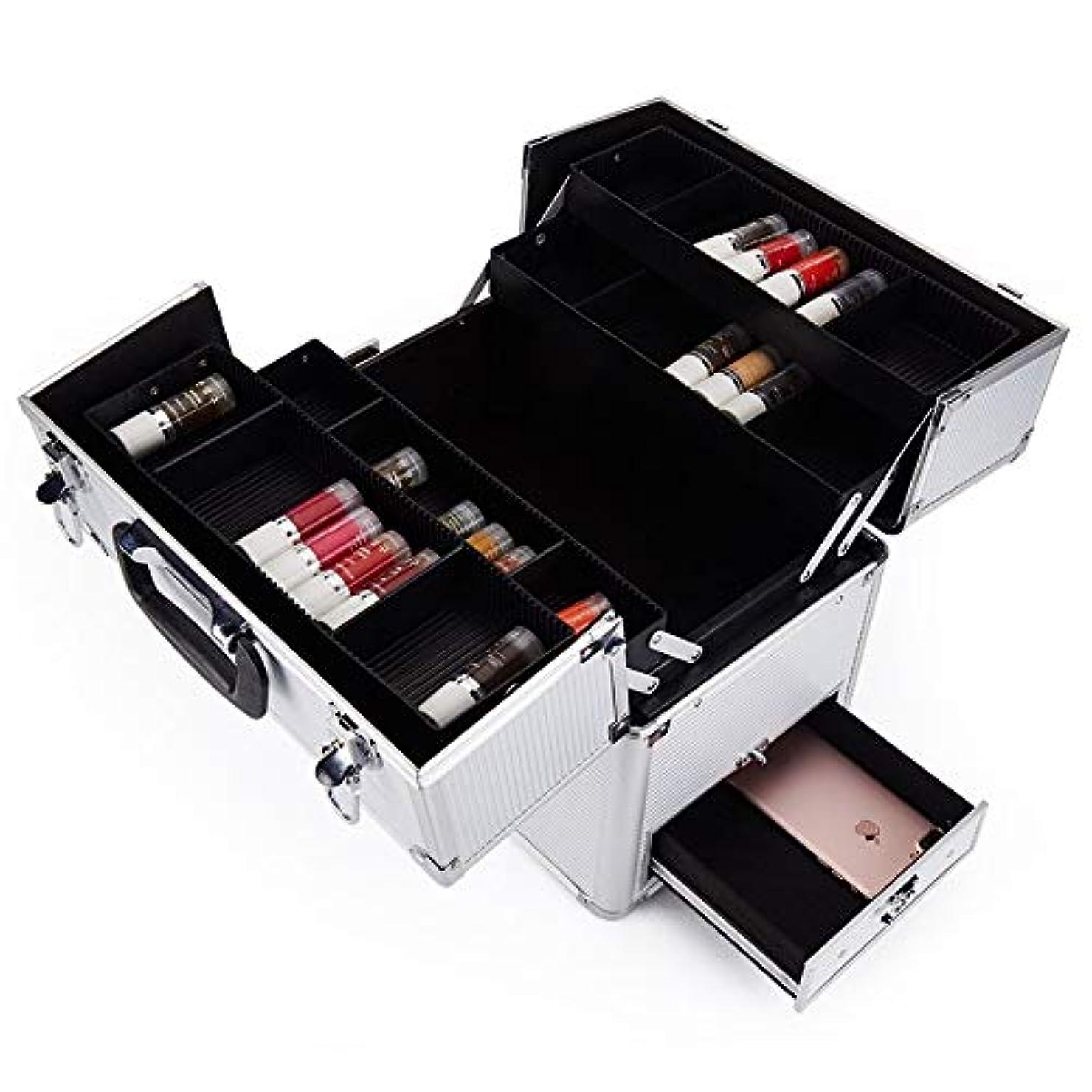 グローバル遺伝子劇的化粧オーガナイザーバッグ 多機能旅行メイクアップバッグパターンメイクアップアーティストケーストレインボックス化粧品オーガナイザー収納ボックス 化粧品ケース