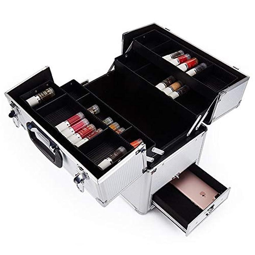合意富きちんとした化粧オーガナイザーバッグ 多機能旅行メイクアップバッグパターンメイクアップアーティストケーストレインボックス化粧品オーガナイザー収納ボックス 化粧品ケース