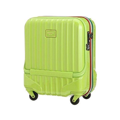 ベネトン レディース(UNITED COLORS OF BENETTON) トップオープンキャリーケース・スーツケース(S)機内持込可 容量約24L【グリーン/FREE】