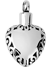 【ノーブランド 品】ペンダント メモリアル 火葬灰 火葬灰 ネックレス DIY ホルダー ネックレス ハート形