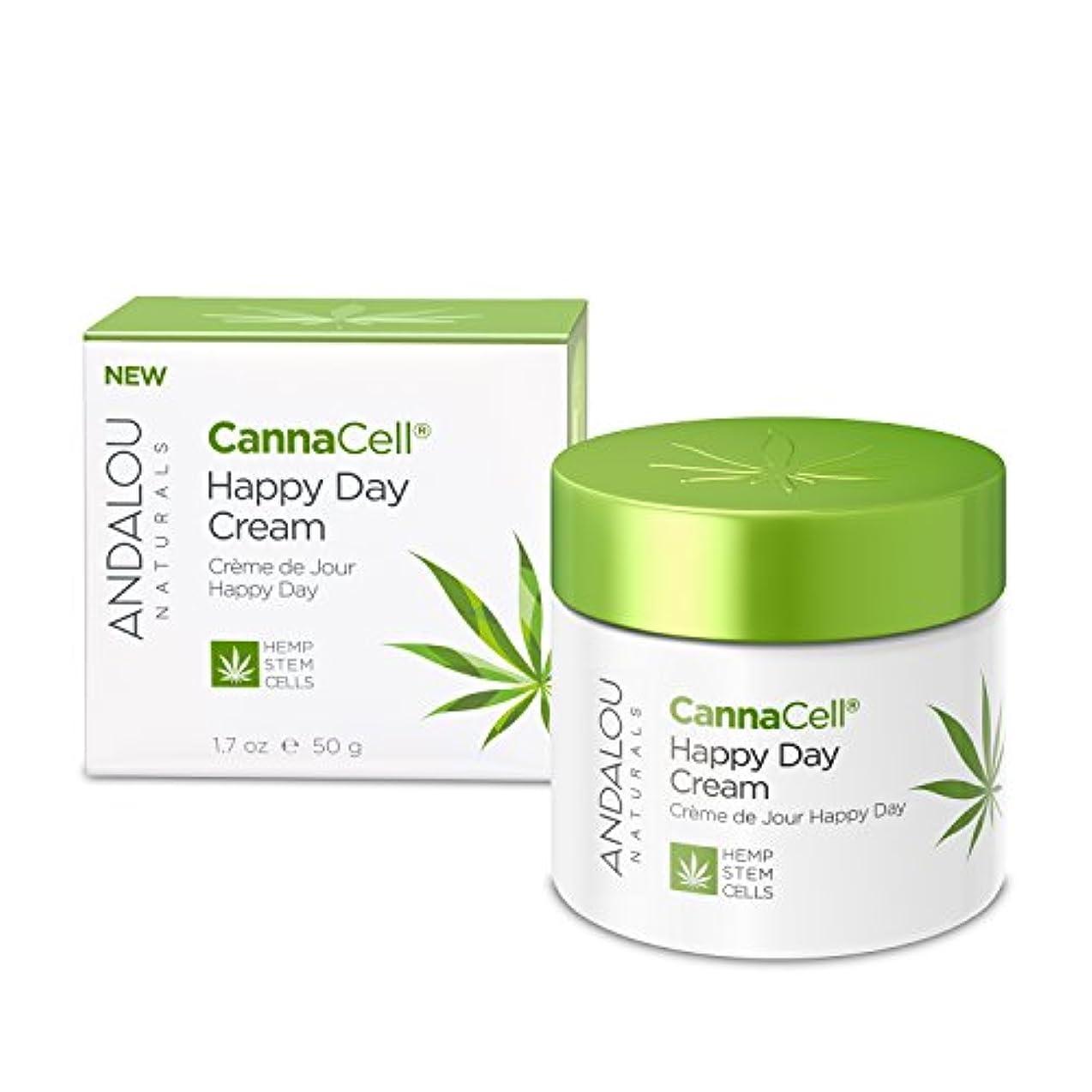降下過半数きちんとしたオーガニック ボタニカル クリーム デイクリーム 美容クリーム ナチュラル フルーツ幹細胞 ヘンプ幹細胞 「 CannaCell® ハッピーデイクリーム 」 ANDALOU naturals アンダルー ナチュラルズ