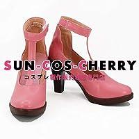 【サイズ選択可】コスプレ靴 ブーツ K-2494 黒執事 エリザベス・ミッドフォード 女性24CM