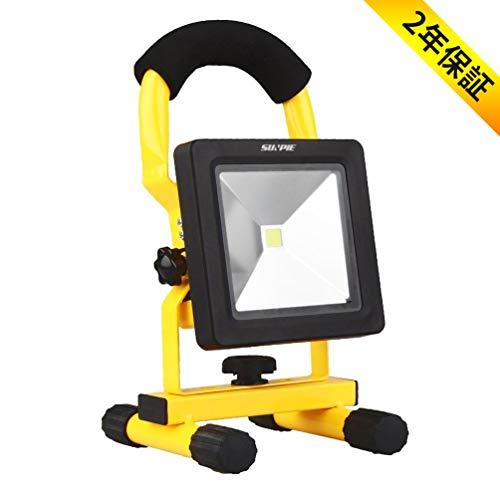 「SUNPIE」LEDフラッドライト 10W 充電式 高輝度 投光器 超薄型 作業灯 アウトドア照明 停電対策 2年保証