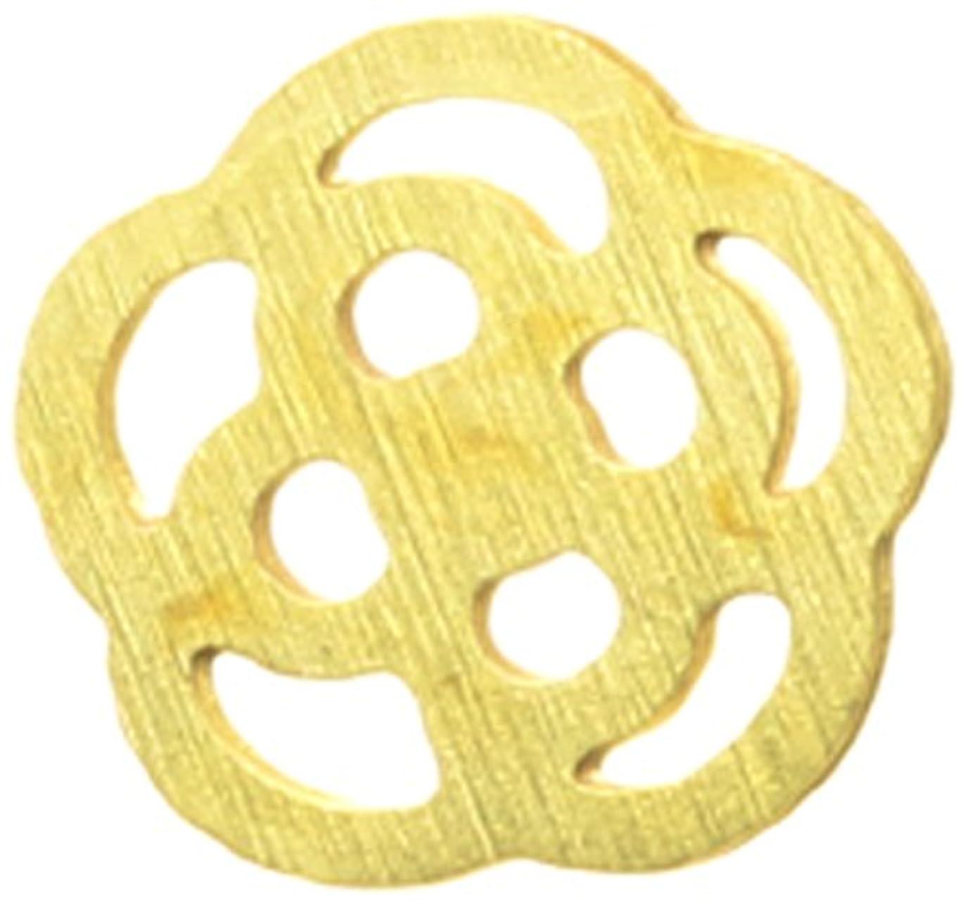 許されるスケート超高層ビルメタルプレート(ネイルストーン デコ) カメリア(30個入り) ゴールド(ネイル用品)