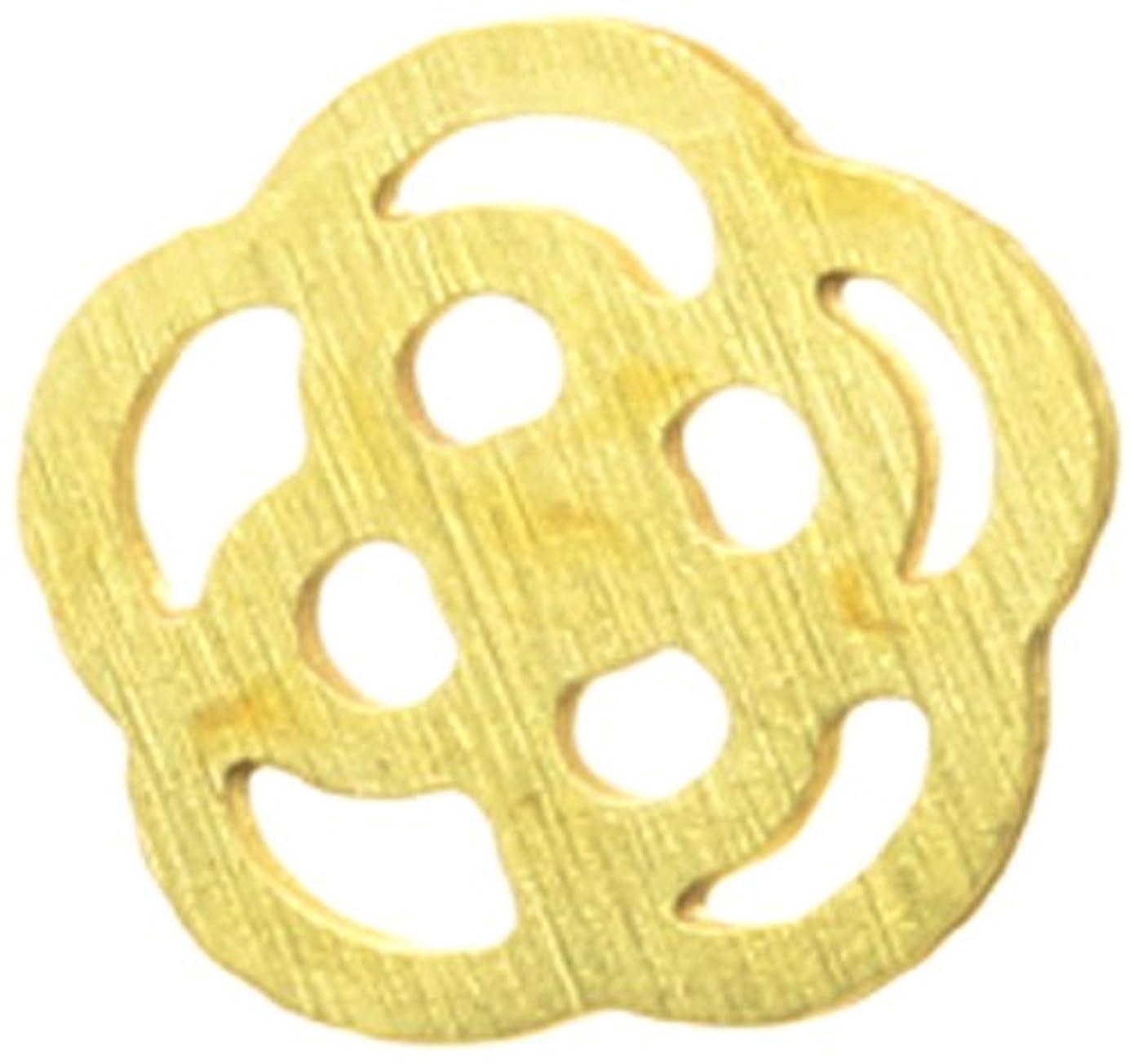 考えたチャンピオンシップかき混ぜるメタルプレート(ネイルストーン デコ) カメリア(30個入り) ゴールド(ネイル用品)