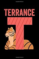 Terrance: Animals Coloring Book for Kids, Weekly Planner, and Lined Journal Animal Coloring Pages. Personalized Custom Name Initial Alphabet Christmas or Birthday Gift for Boys