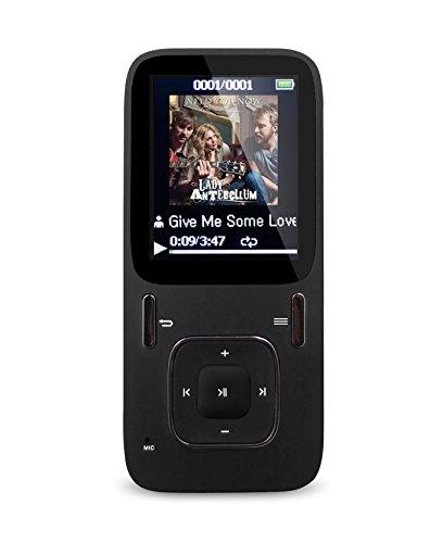 AGPtEK B03 8GB MP3プレーヤー 独立音量ボタン 再生連続30時間 A02の最新モデル (マイクロSDカード64GBに対応)(ブラック)