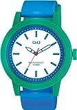 シチズン Q&Q 腕時計 アナログ ビックフェイス 防水 ウレタンベルト VS56-002 メンズ ブルー ホワイト