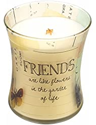 Friends Vanilla Bean Inspirationalコレクション砂時計WoodWick Candle