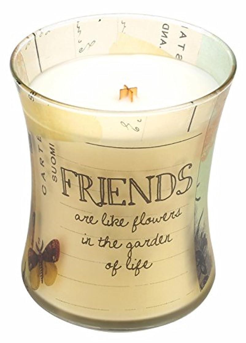 付ける融合あいまいFriends Vanilla Bean Inspirationalコレクション砂時計WoodWick Candle