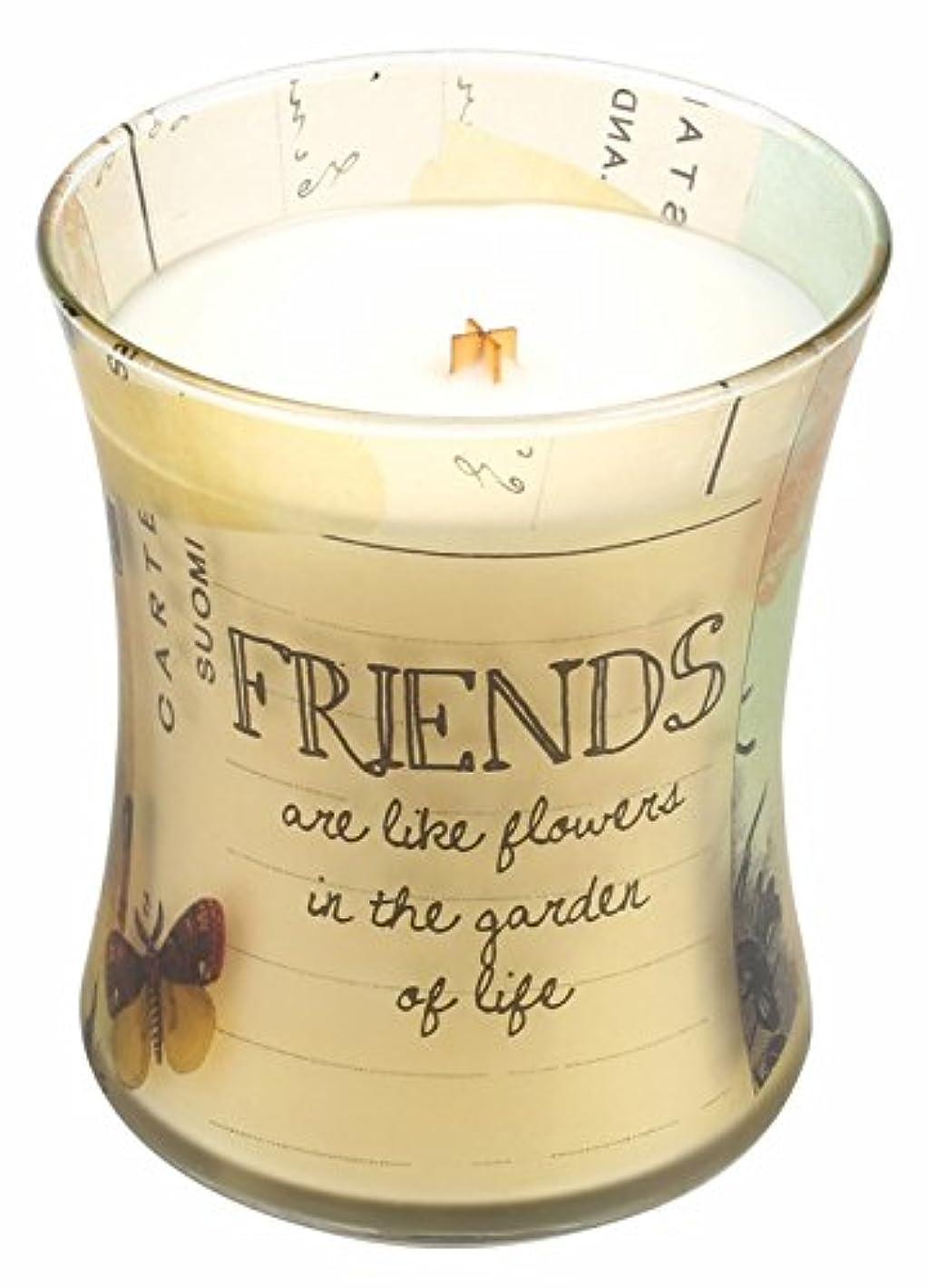 ニンニクアルバム本物Friends Vanilla Bean Inspirationalコレクション砂時計WoodWick Candle