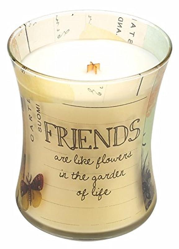 記憶に残る読み書きのできないセブンFriends Vanilla Bean Inspirationalコレクション砂時計WoodWick Candle