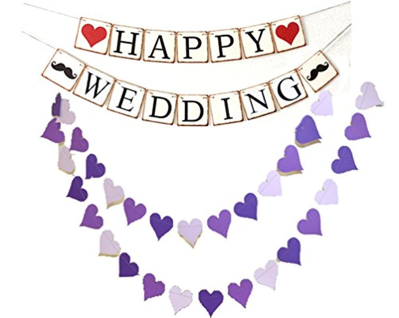 ウエディング パーティー 飾り ハッピーウエディング happy wedding ハート heart 文字 ガーランド