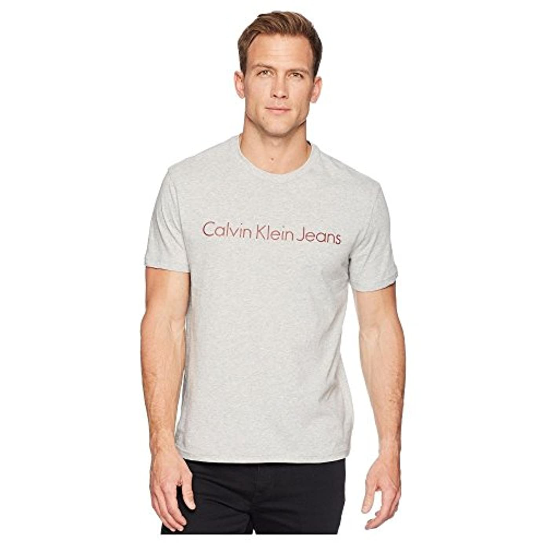 川例外費やす(カルバンクライン) Calvin Klein Jeans メンズ トップス Tシャツ HD Calvin Klein Jeans Logo Crew Neck Tee [並行輸入品]