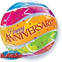 22 Anniversary Colorful Bands Bubble Balloon