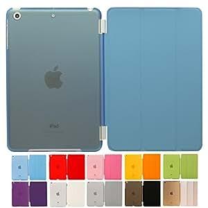 MS factory iPad mini2 mini3 スマート カバー バック ケース ブルー IPDM3-SSET-SKY
