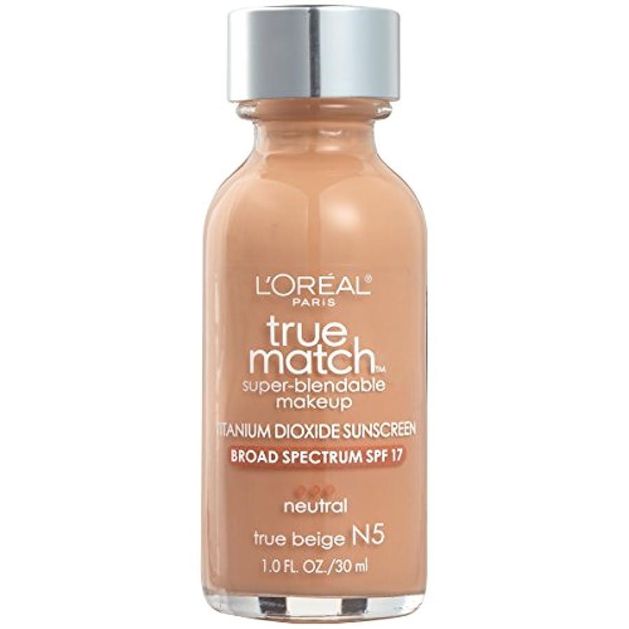 刺激するシート汚れたTrue Match Super Blendable Makeup SPF 17 - # N5 True Beige