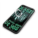 Never Gonna Give You Up - Rick Astley リック・アストリー IPhone X/XS ケース リング付き 強化ガラス背面 携帯カバー スタンド機能 360°回転 落下防止 衝撃吸収 スマホケース