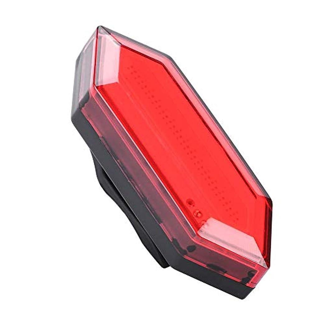 キャプション豊かな鹿USB充電式自転車警告灯サイクリング安全警告懐中電灯防水バイクリアライト、屋外自転車リアサドルランプテールセーフティ警告赤色光ナイトライディングアクセサリー