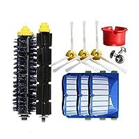 Semoic 交換部品キットIrobot Roomba 600 610 620 625 630 650 660シリーズ掃除機用 ビーターブリストルブラシ+エアロバキュームフィルター+サイドブラシ