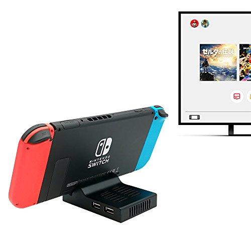 Nintendo Switch ドック ポータブル充電ドック 熱対策対応 (4k/ 30fps高清動画表示、5ポート、互換性ある) プラグアンドプレイ HDMI変換アダプタ 急速充電 コンパクトで軽量 持ち運びやすい