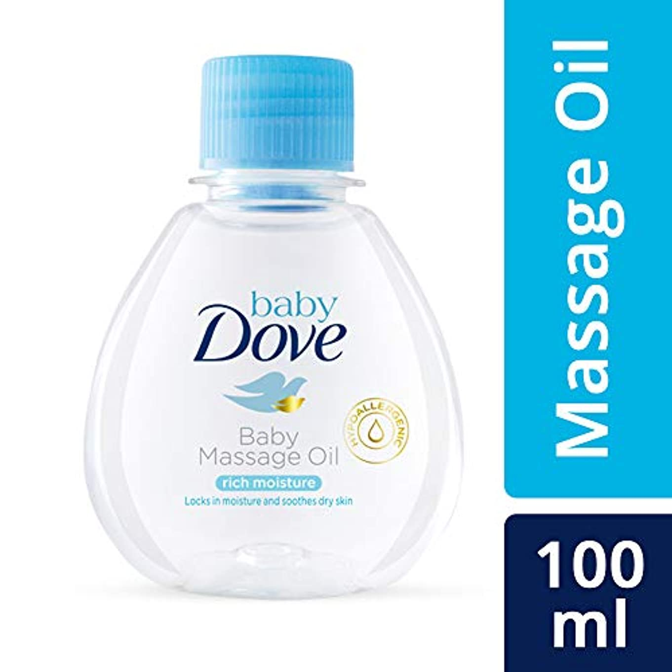 満員支出メイトBaby Dove Rich Moisture Baby Massage Oil, 100ml