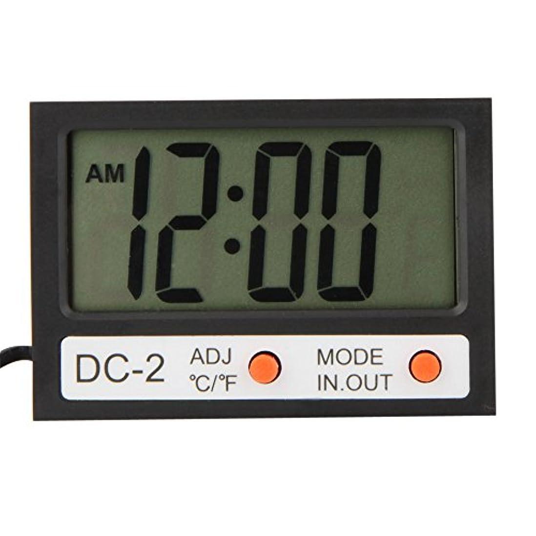 日文芸アスペクトWunes - ミニLCDデジタル温度計多機能温度計タイムクロック屋内屋外の天気駅テスター診断ツール