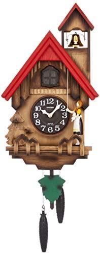 鳩時計 掛け時計 カッコーチロリアンR 本格的ふいご式 リズム時計 4MJ732RH06