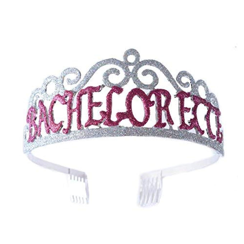 ポーズラッチ説明するFF Bachelorette Tiara Glittered Metal Combs with Silver AB Sequins [並行輸入品]
