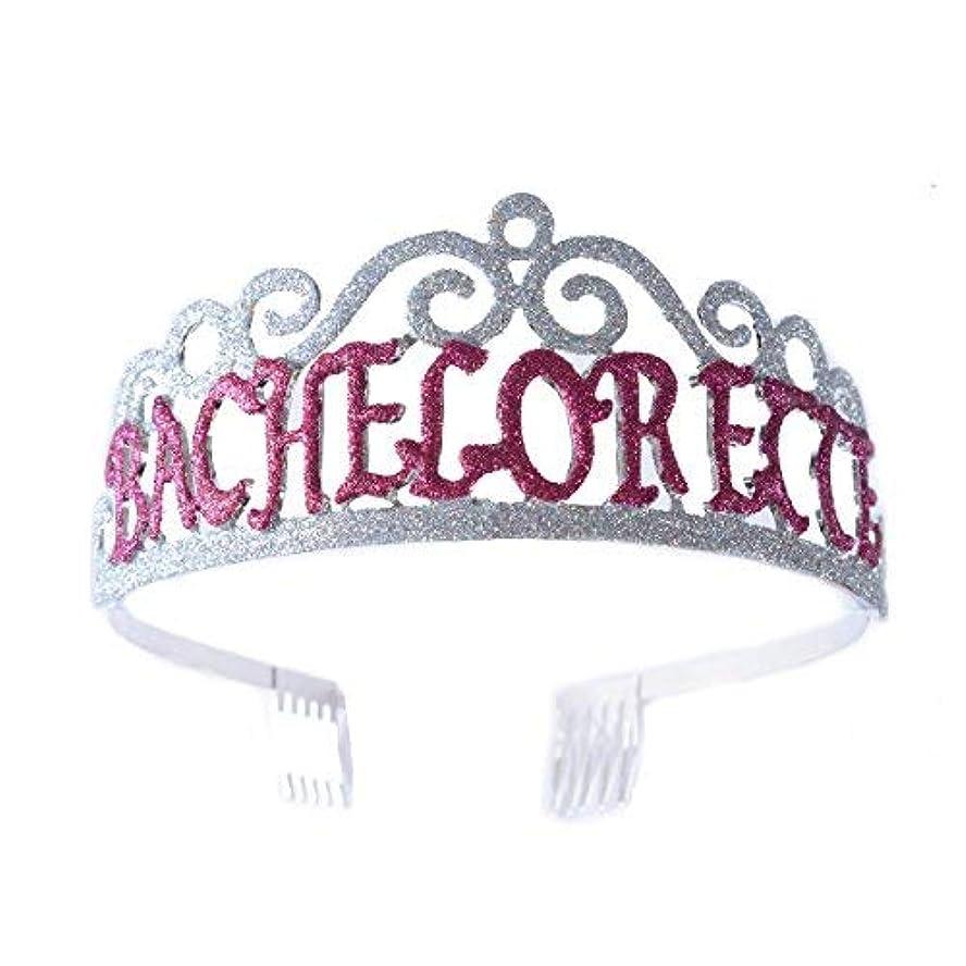 学者傾く届けるFF Bachelorette Tiara Glittered Metal Combs with Silver AB Sequins [並行輸入品]