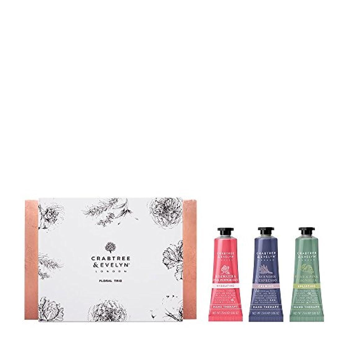 強大な不明瞭世界に死んだクラブツリー&イヴリン Floral Hand Therapy Trio (1x Pear & Pink Magnolia, 1x Rosewater & Pink Peppercorn, 1x Lavender & Espresso) 3x25ml/0.86oz並行輸入品