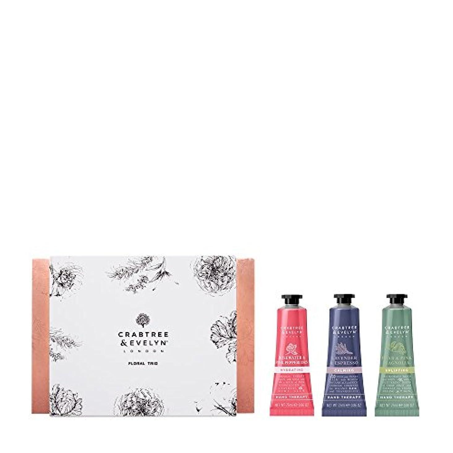 さびた砲撃パトロンクラブツリー&イヴリン Floral Hand Therapy Trio (1x Pear & Pink Magnolia, 1x Rosewater & Pink Peppercorn, 1x Lavender & Espresso...