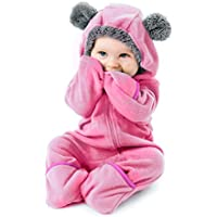 Funzies Fleece Baby Bear Bunting Jacket - Infant Pajamas Winter Outerwear Coat