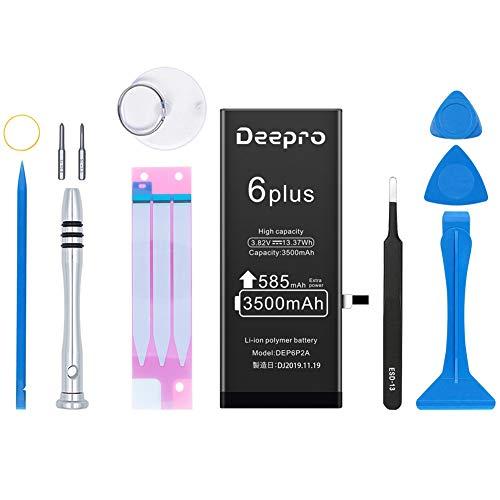 Deepro iPhone6 Plus バッテリー 交換キット - 大容量 3500mAh 3.82V PSE認証済 2年保証 説明書 工具付