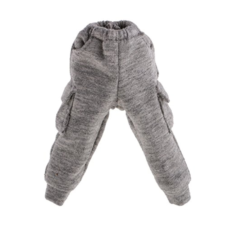 Dovewill 1/6スケール 可愛い 人形 ポケット付き カジュアル ズボン 12インチ ブライスドール用 全2色  - 灰色
