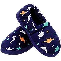 MIXIN Boy's Girl's Memory Foam Indoor Outdoor Cute Warm Cozy Slip on Non Slip Slippers Shoes