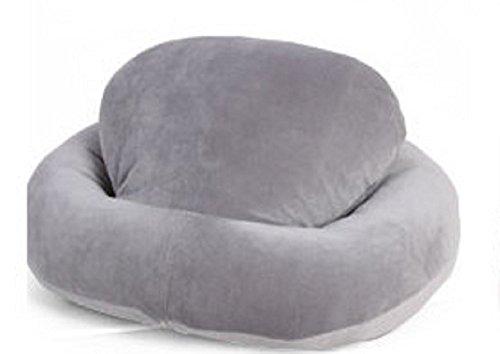 桜の雪 人体工学設計  ソフト抱き枕 気持ちいい 抱きまくら オフィス寝る枕 U字枕 (グレー)
