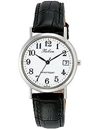 [シチズン キューアンドキュー]CITIZEN Q&Q 腕時計 Falcon ファルコン アナログ 革ベルト 日付 表示 ホワイト D021-304 レディース