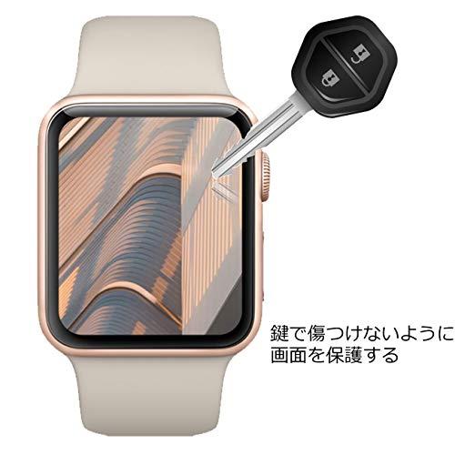 『【6枚セット】Newzerol For Apple Watch Series 4 44mm 2018 保護フィルム 改良版【ラウンドエッジ・超薄0.1mm・傷防止・透過率99%・気泡防止】Apple Watch 44mm Series 4 液晶保護フィルム』の2枚目の画像