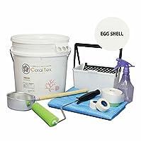 【CORAL TEX】トライアルローラーセット たっぷり20kg 珪藻土風 (013 EGG SHELL)と塗装道具セット 塗る人に優しく、環境・健康を考えた西洋漆喰