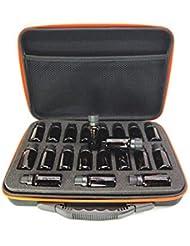 エッセンシャルオイル 収納ケース - ハードシェル 携帯バッグ 衝撃防止 EVA アロマケース 化粧ポーチ ハンドル付き 旅行 15ml瓶用38本