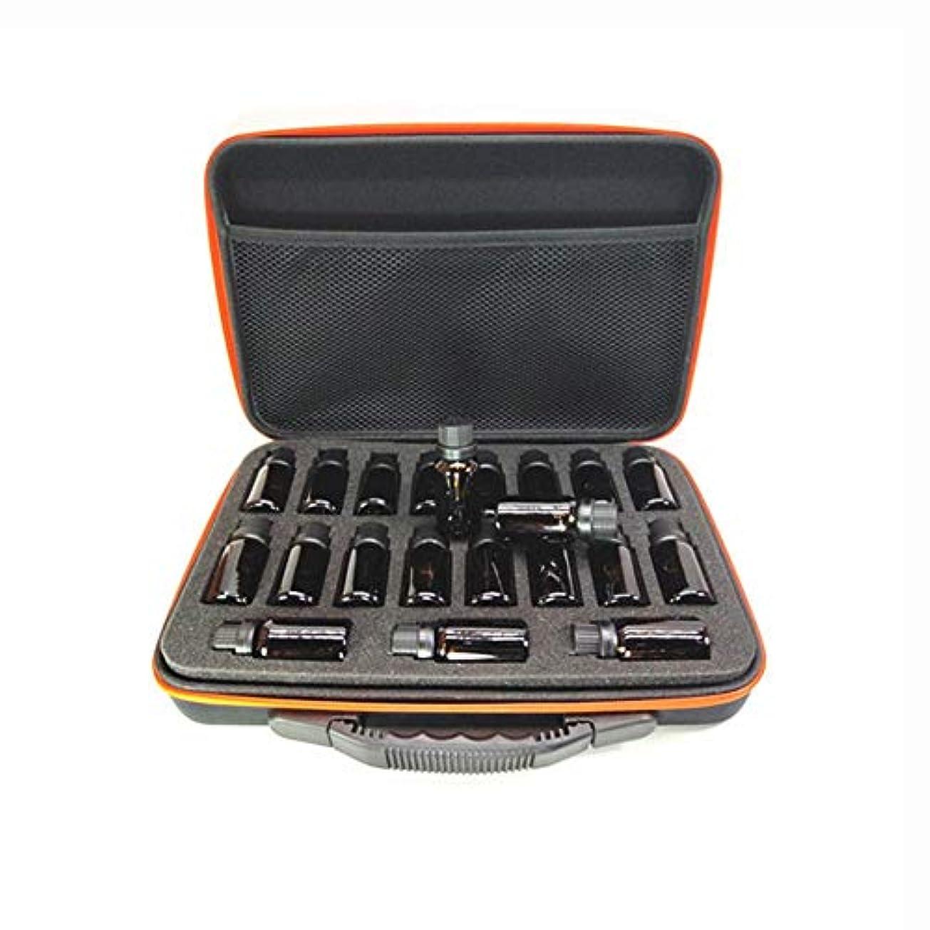 まっすぐこだわりみなすエッセンシャルオイル 収納ケース - ハードシェル 携帯バッグ 衝撃防止 EVA アロマケース 化粧ポーチ ハンドル付き 旅行 15ml瓶用38本