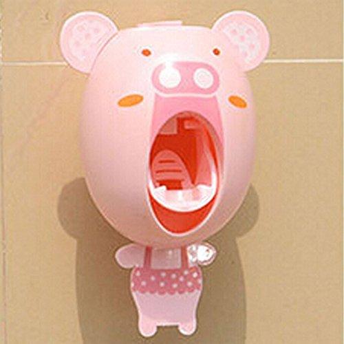 Lexitek아이를 위한 아기 칫솔 dispenser,아이 핸즈프리 치약 dispenser의 아이 자동 만화  동물의 치약《스쿠이자굿도기후토》-