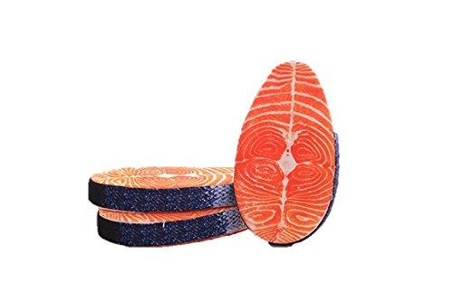 鮭 切り身 本物 そっくりなクッション リアル 3D 座布団 ぬいぐるみ し...
