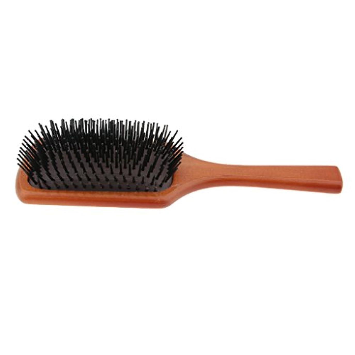 静かな練習結び目木製櫛 ヘアコーム ヘアブラシ 頭皮マッサージ 櫛 ヘアケア 高品質 サロン 自宅用