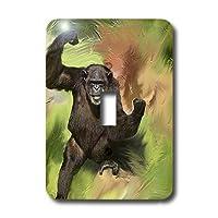 3drose LLC lsp 3975_ 1I Am Strong Monkey、単一切り替えスイッチ