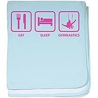CafePress – Eat Sleep体操 – スーパーソフトベビー毛布、新生児おくるみ ブルー 069226447125CD2