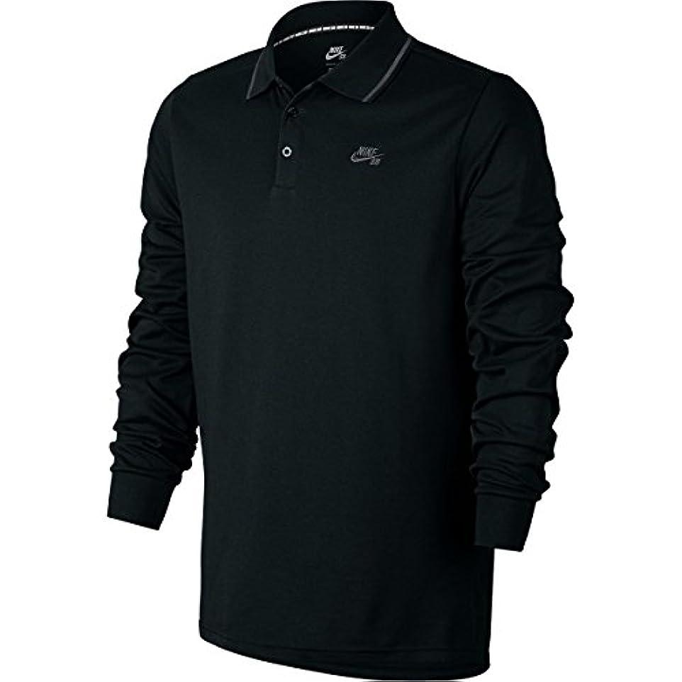 楽しいウイルスエチケットナイキ トップス シャツ SB Dry Polo Shirt - Long-Sleeve - Men's Black/Anth ml0 [並行輸入品]