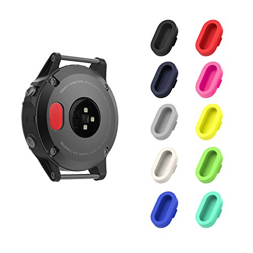 Garmin Fenix 5 防塵プラグ - ATiC Garmin Fenix 5/5S/5X/Forerunner 935/Vivoactive 3/Vivosport/D2 Charlie/Quatix 5用 充電器ポート用 シリコーン製 防塵プラグ 10個 多彩-B
